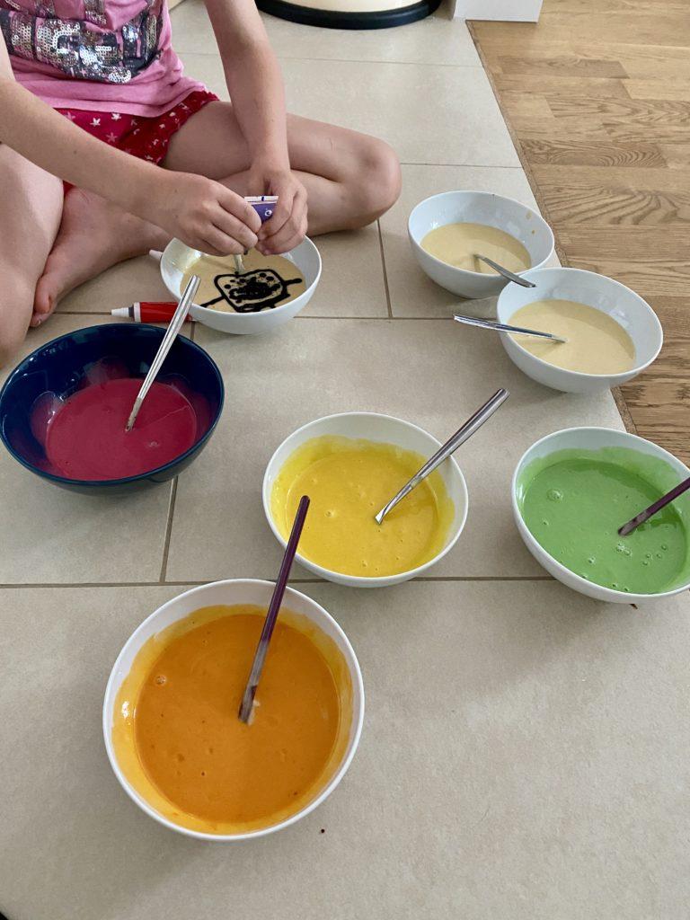 Regenbogenkuchen Papageienkuchen