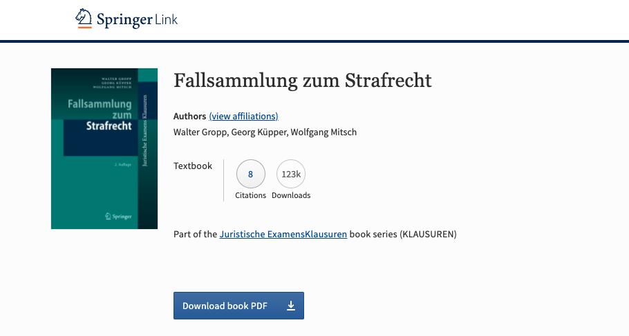 Springer Link Strafrecht Download